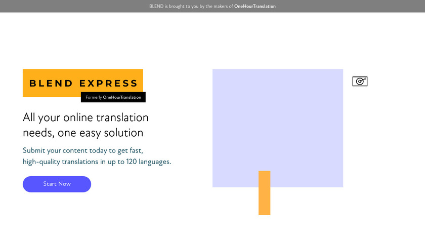 One Hour Translation Landing Page