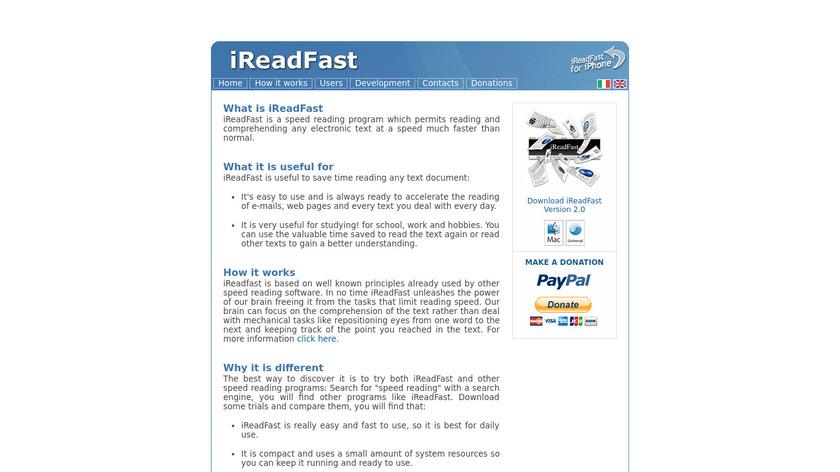 iReadFast Landing Page
