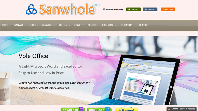 Vole Office Landing Page