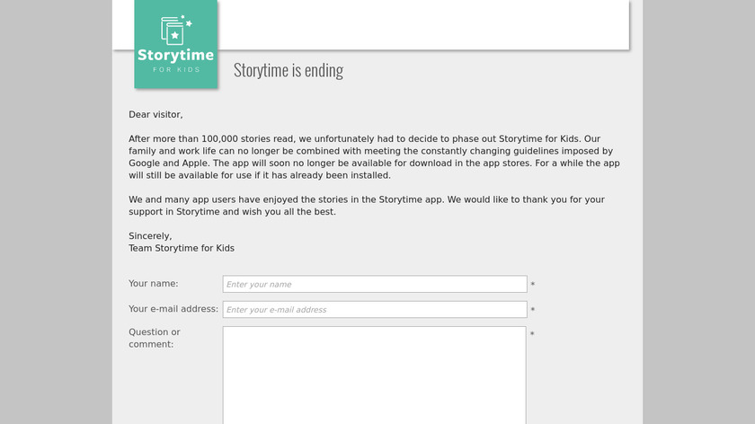 Storytime for Kids Landing Page