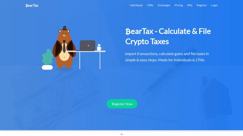 BearTax Landing Page