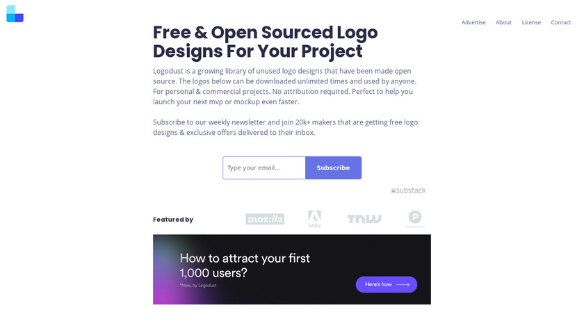 Logo Dust Landing Page