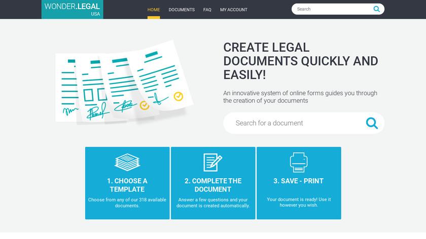 Wonder.Legal Landing Page
