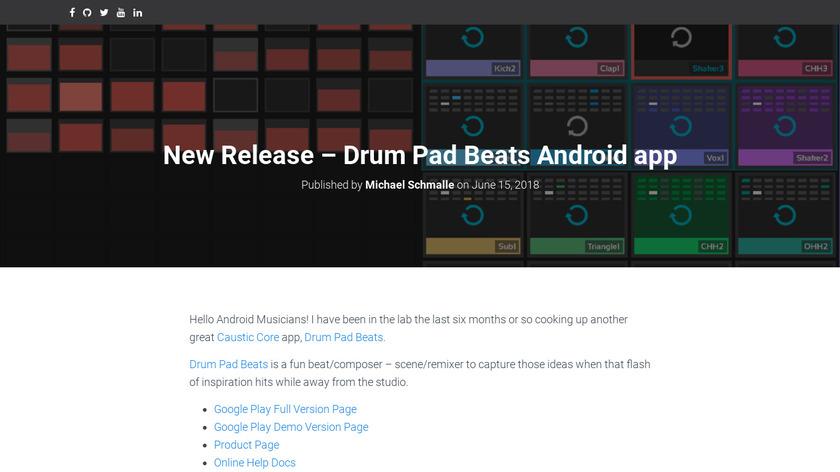Drum Pad Beats Landing Page