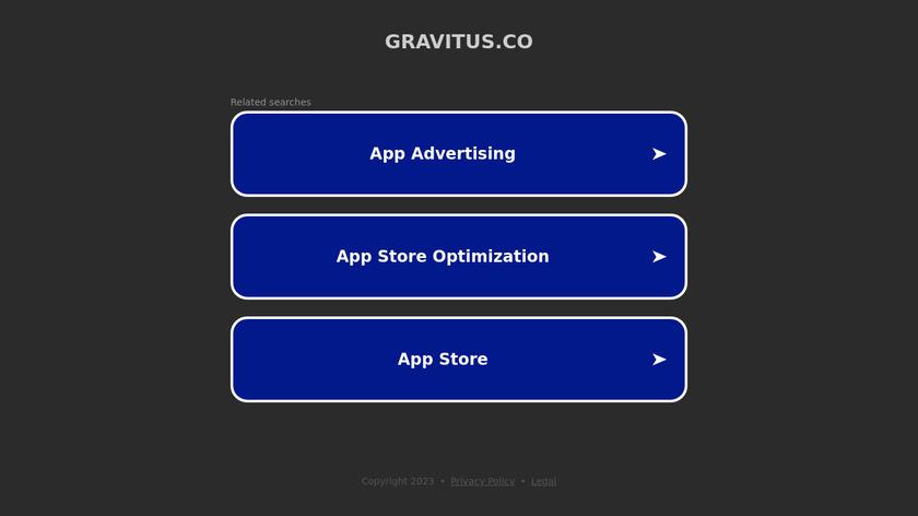 Gravitus Landing Page