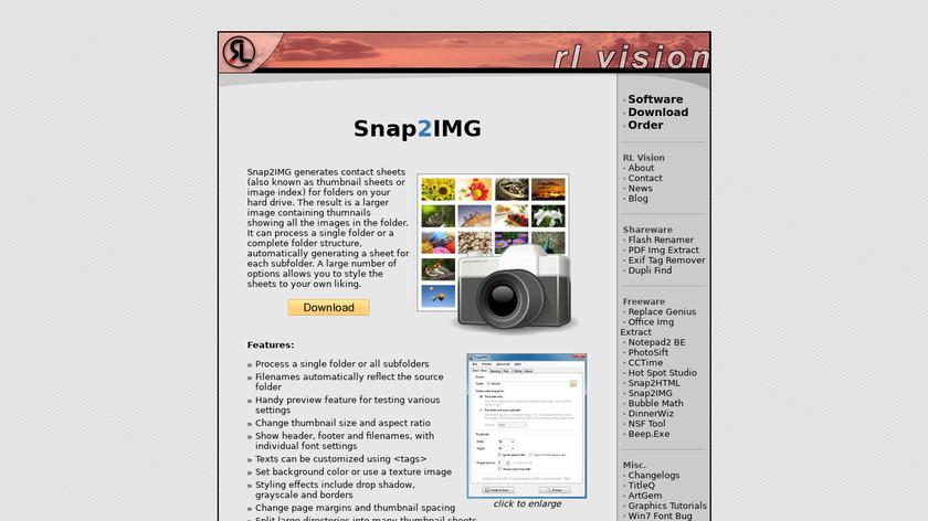 Snap2IMG Landing Page