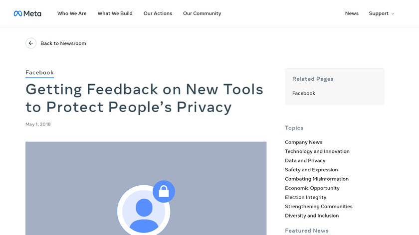 Facebook Clear History Landing Page