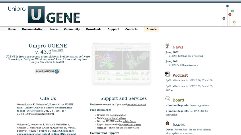 UGENE Landing Page