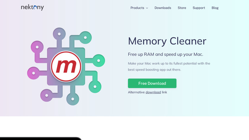 Memory Cleaner X Landing Page