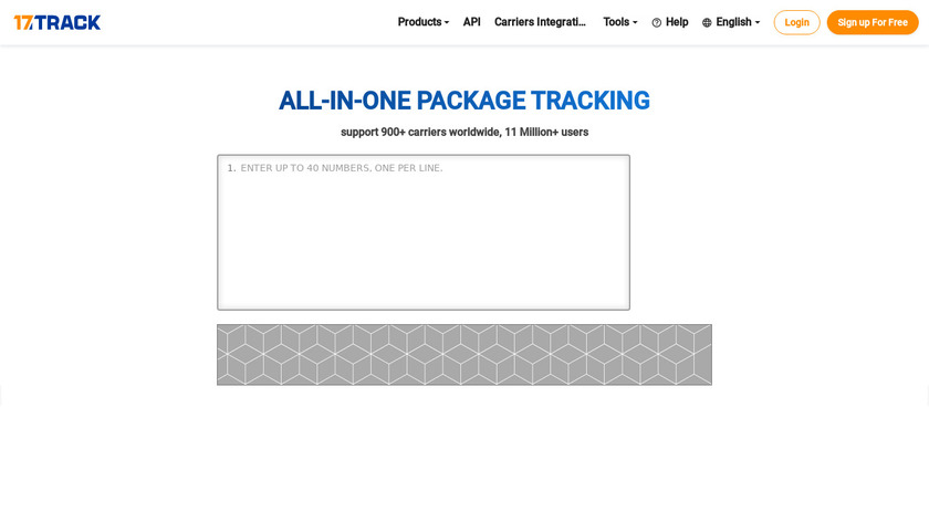 17track Landing Page