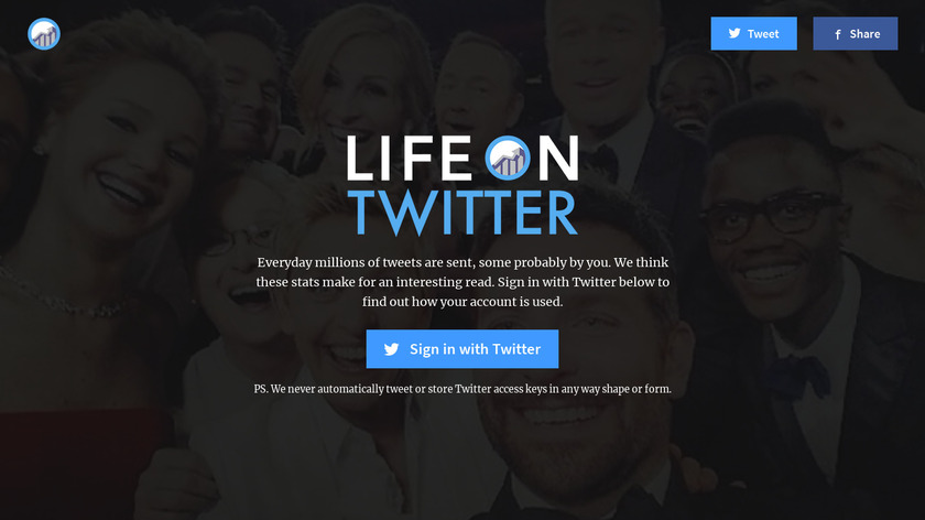 Life on Twitter Landing Page