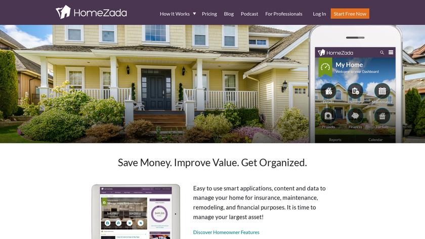 HomeZada Landing Page
