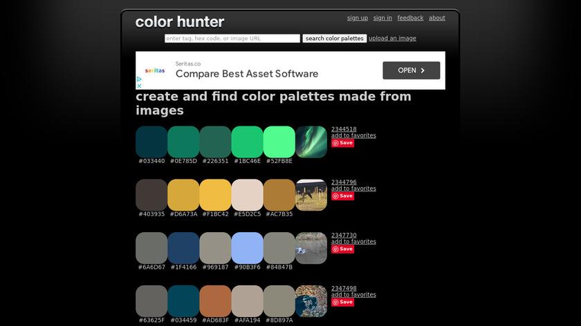 Color Hunter Landing Page