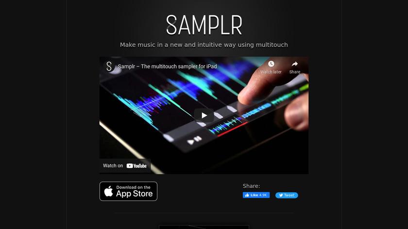 Samplr Landing Page