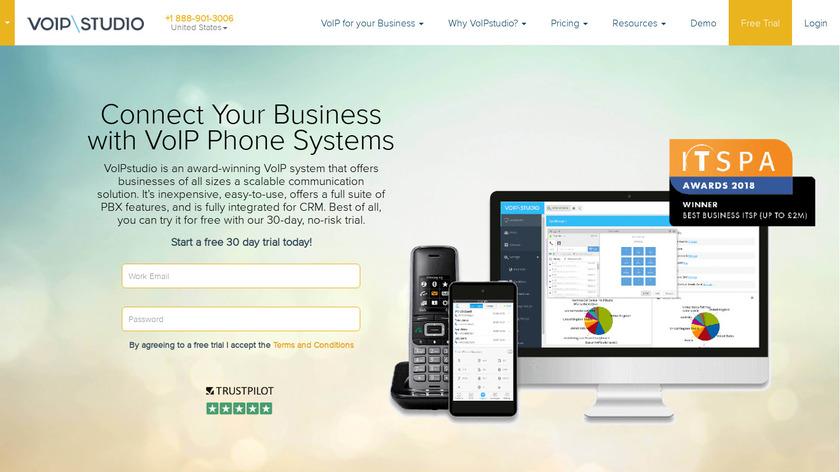 VoIPstudio Landing Page