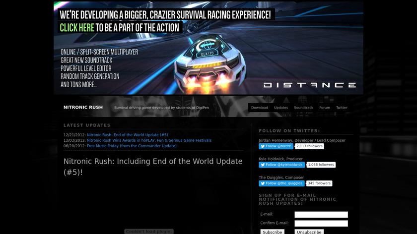 Nitronic Rush Landing Page