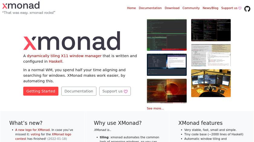 Xmonad Landing Page