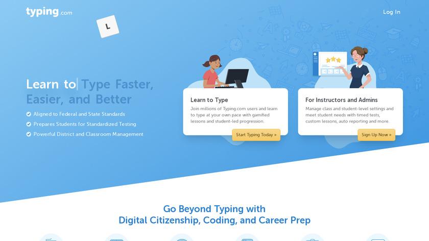Typing.com Landing Page