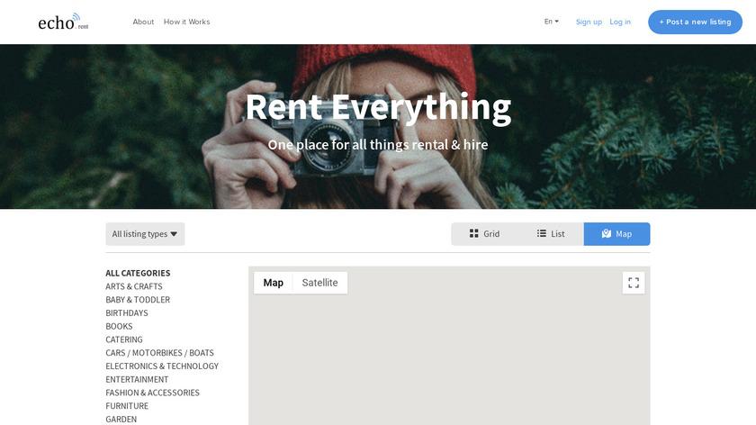 echo.rent Landing Page