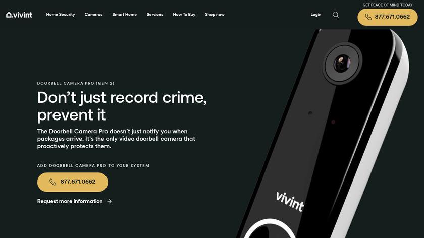 Vivint Doorbell Camera Landing Page