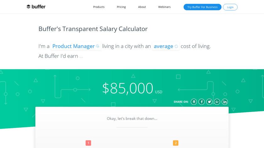 Buffer's Salary Calculator Landing Page