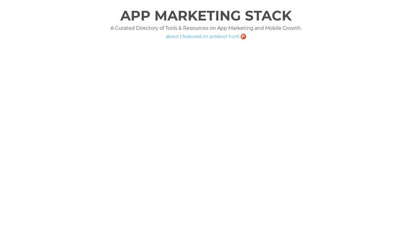 App Marketing Stack Landing Page