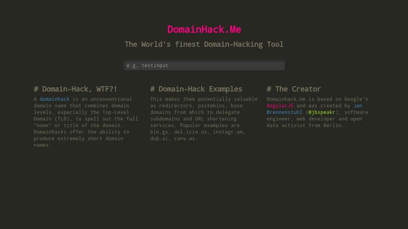 DomainHack.Me Landing Page
