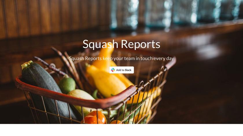 Squash Reports Landing Page