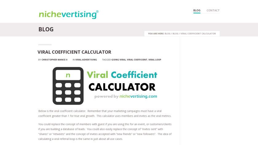 Viral Coefficient Calculator Landing Page