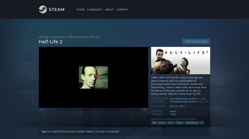 Half-Life 2 Landing Page