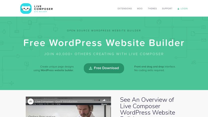 Live Composer Landing Page