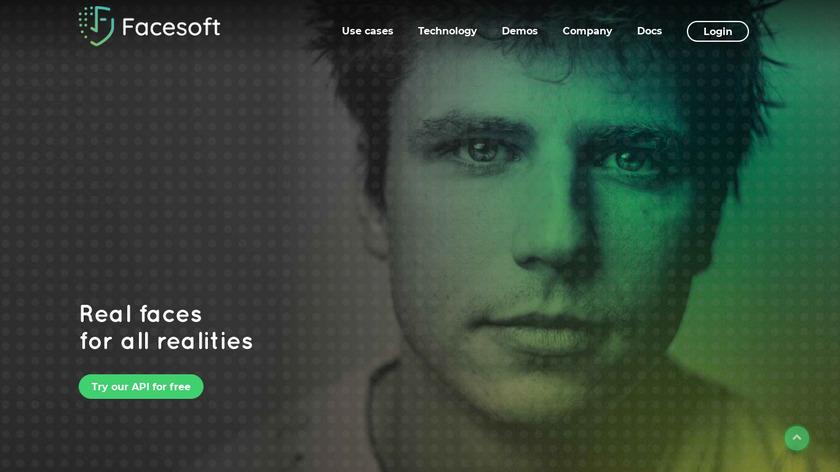 Facesoft Landing Page