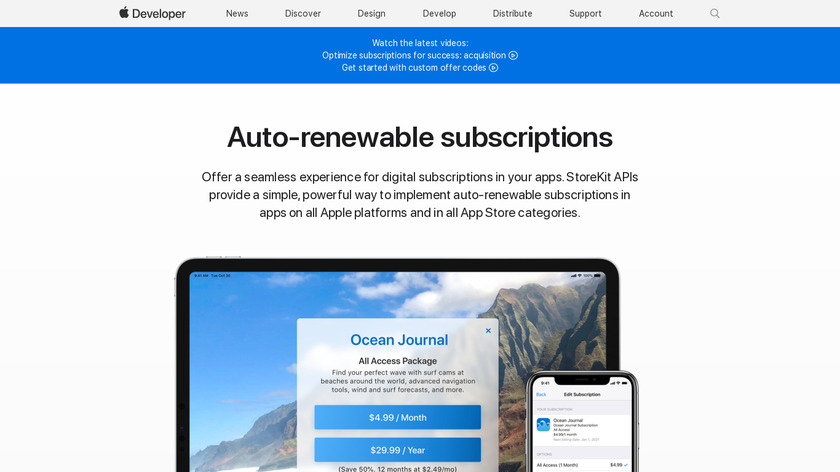 Apple Subscriptions Landing Page