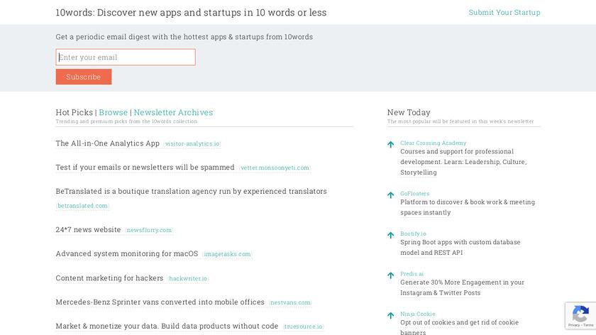 10words.io Landing Page