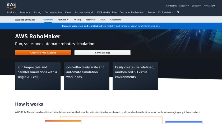 AWS RoboMaker Landing Page