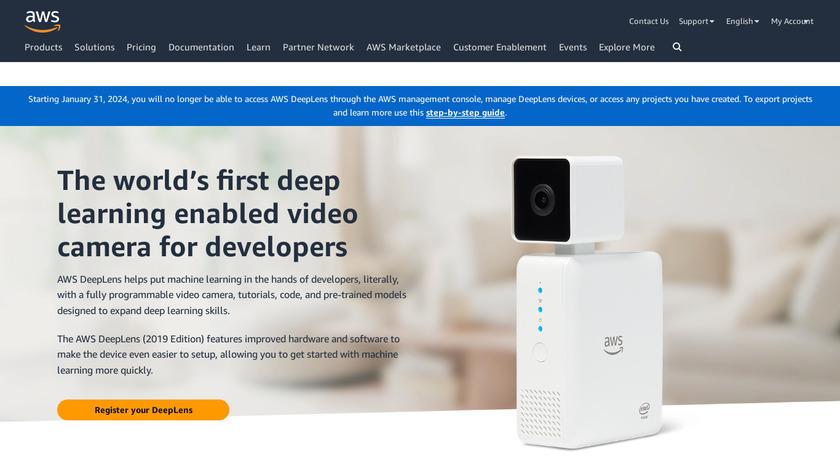 AWS DeepLens Landing Page