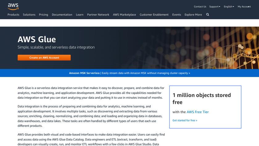 AWS Glue Landing Page