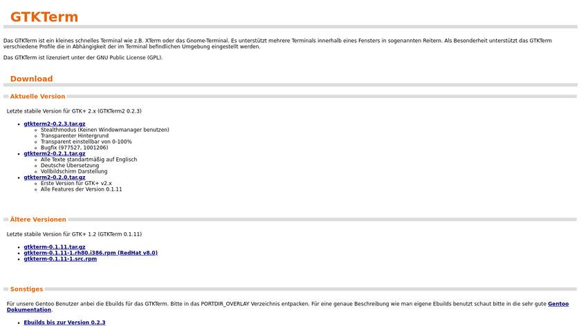 GtkTerm Landing Page