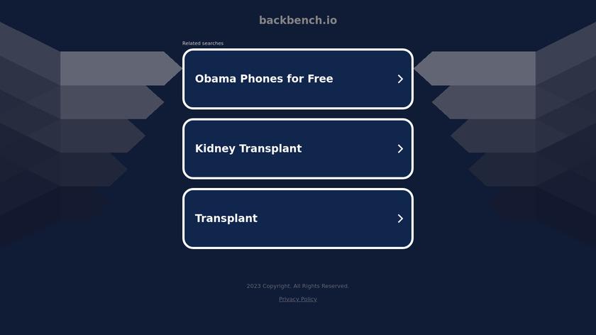 Backbench Landing Page
