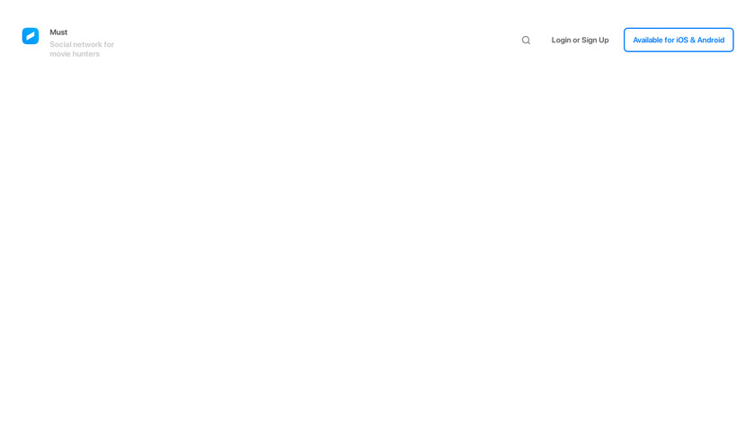 Must App Landing Page