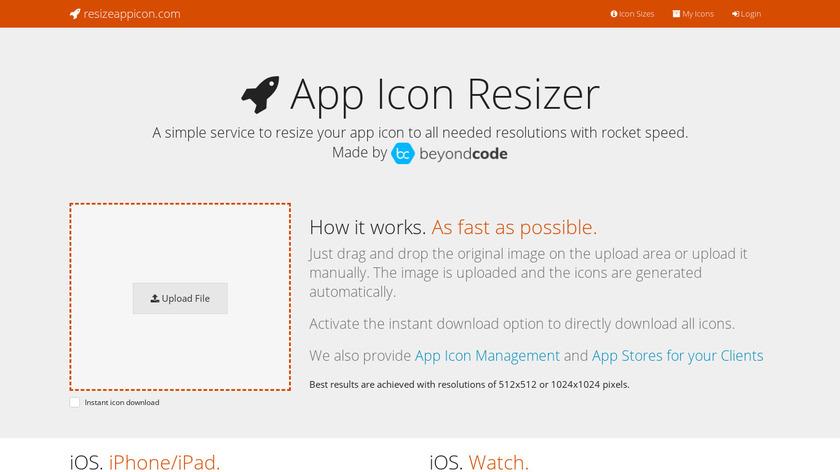 App Icon Resizer Landing Page