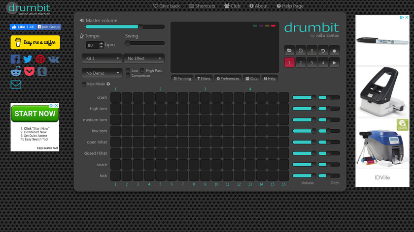 drumbit Landing Page