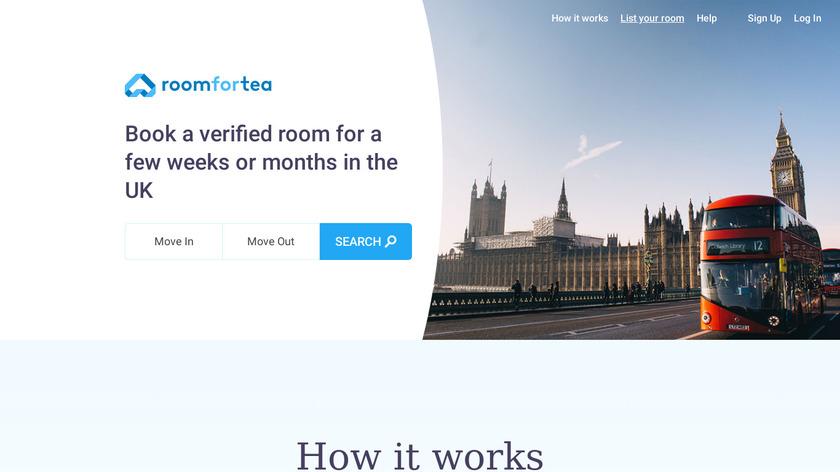 RoomForTea Landing Page