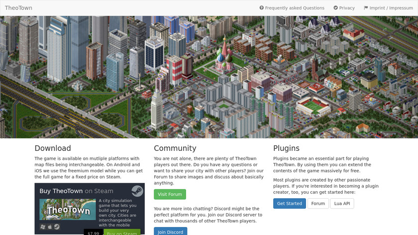 TheoTown Landing Page