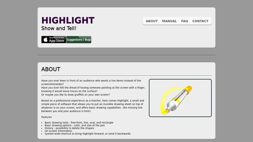 Highlight Landing Page
