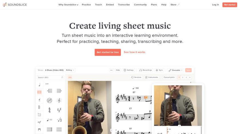 SoundSlice Landing Page