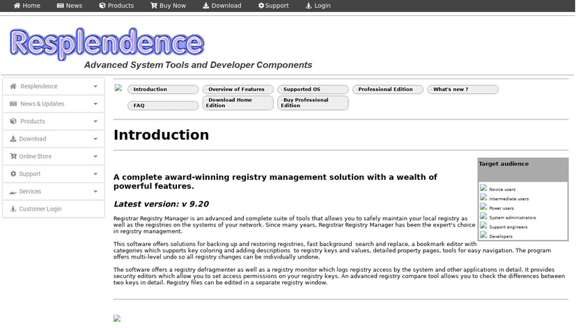Registrar Registry Manager Landing Page