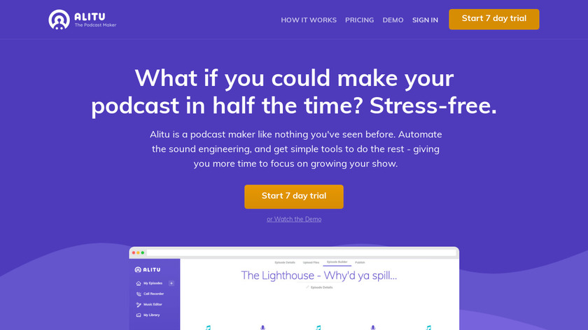 Alitu Landing Page