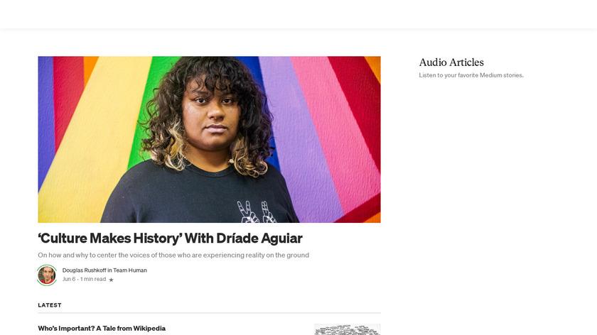 Medium Audio Stories Landing Page