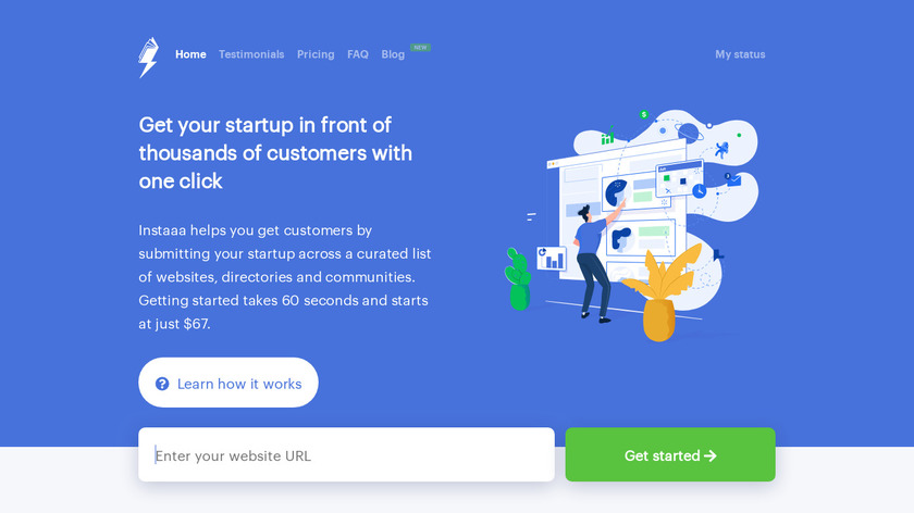 Instaaa Landing Page